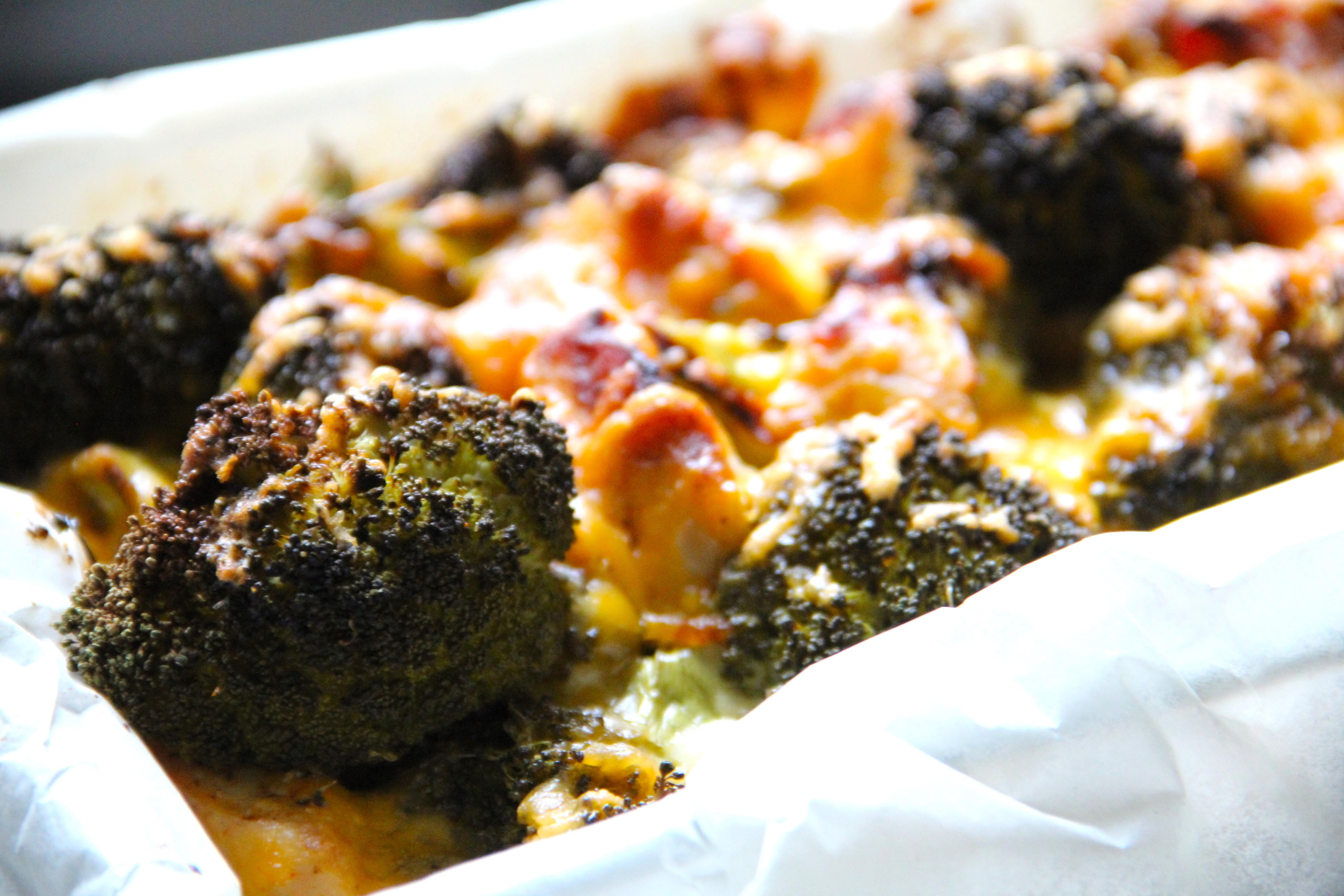 Zapekaná brokolica s kuracím mäsom