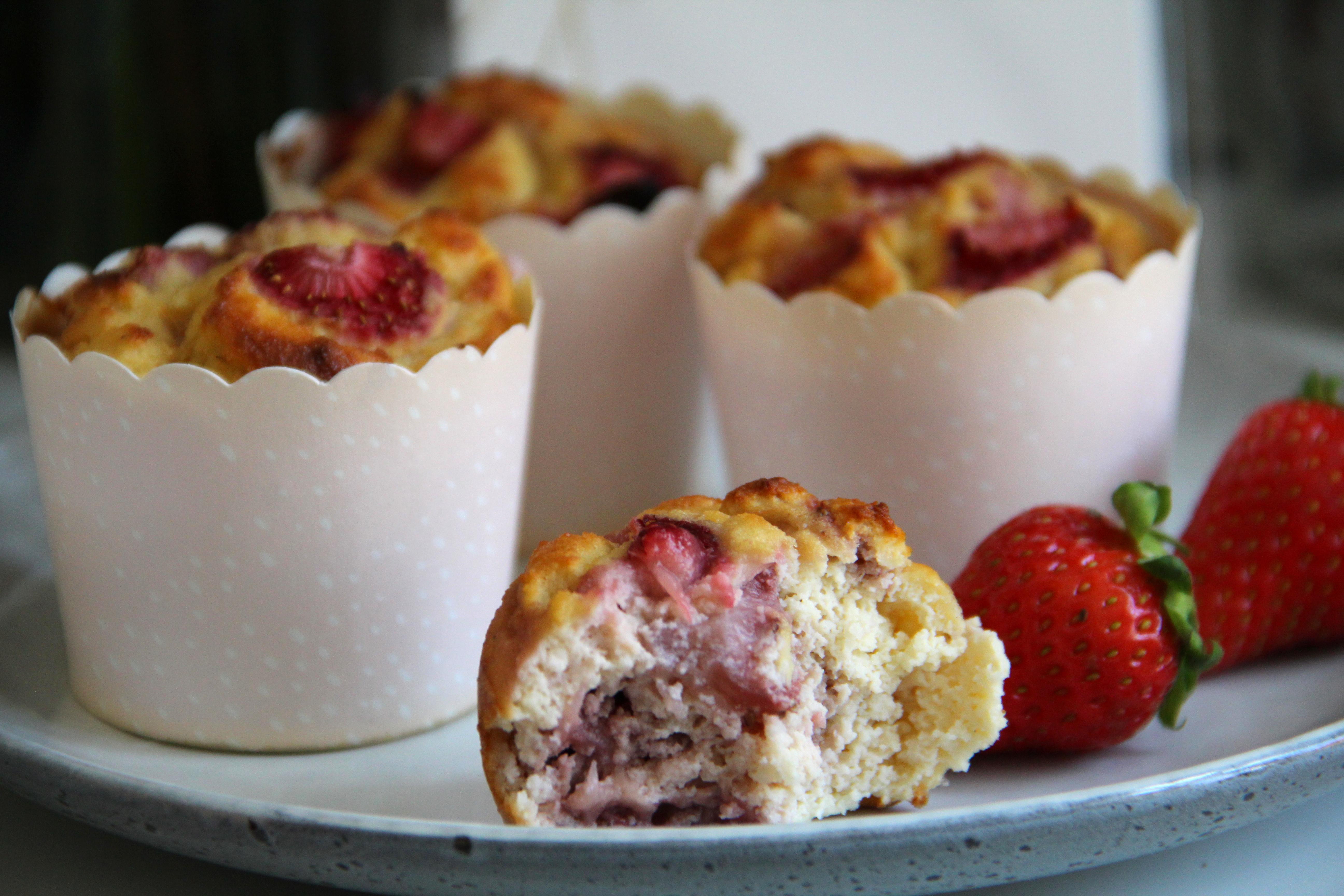 Jahodové muffiny bez cukru