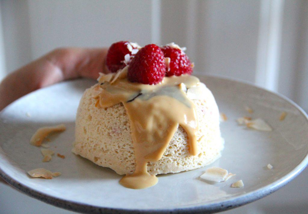 malinový mugcake