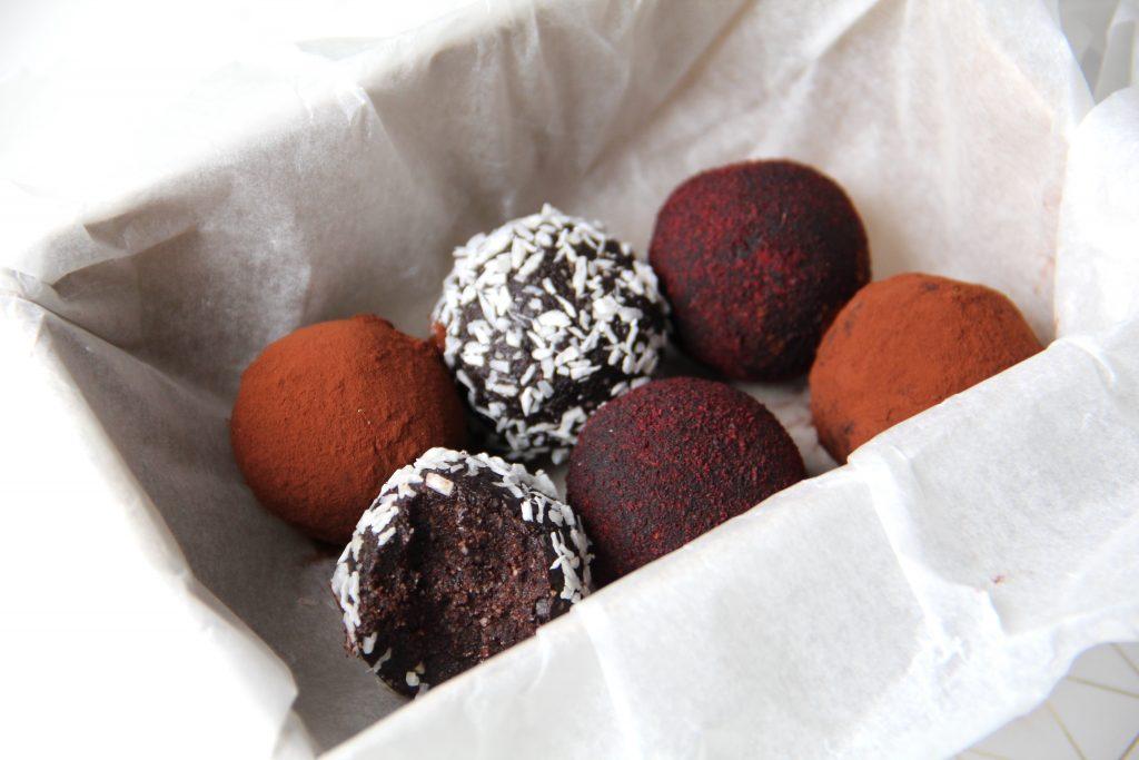 orechovo-čokoládové guľky
