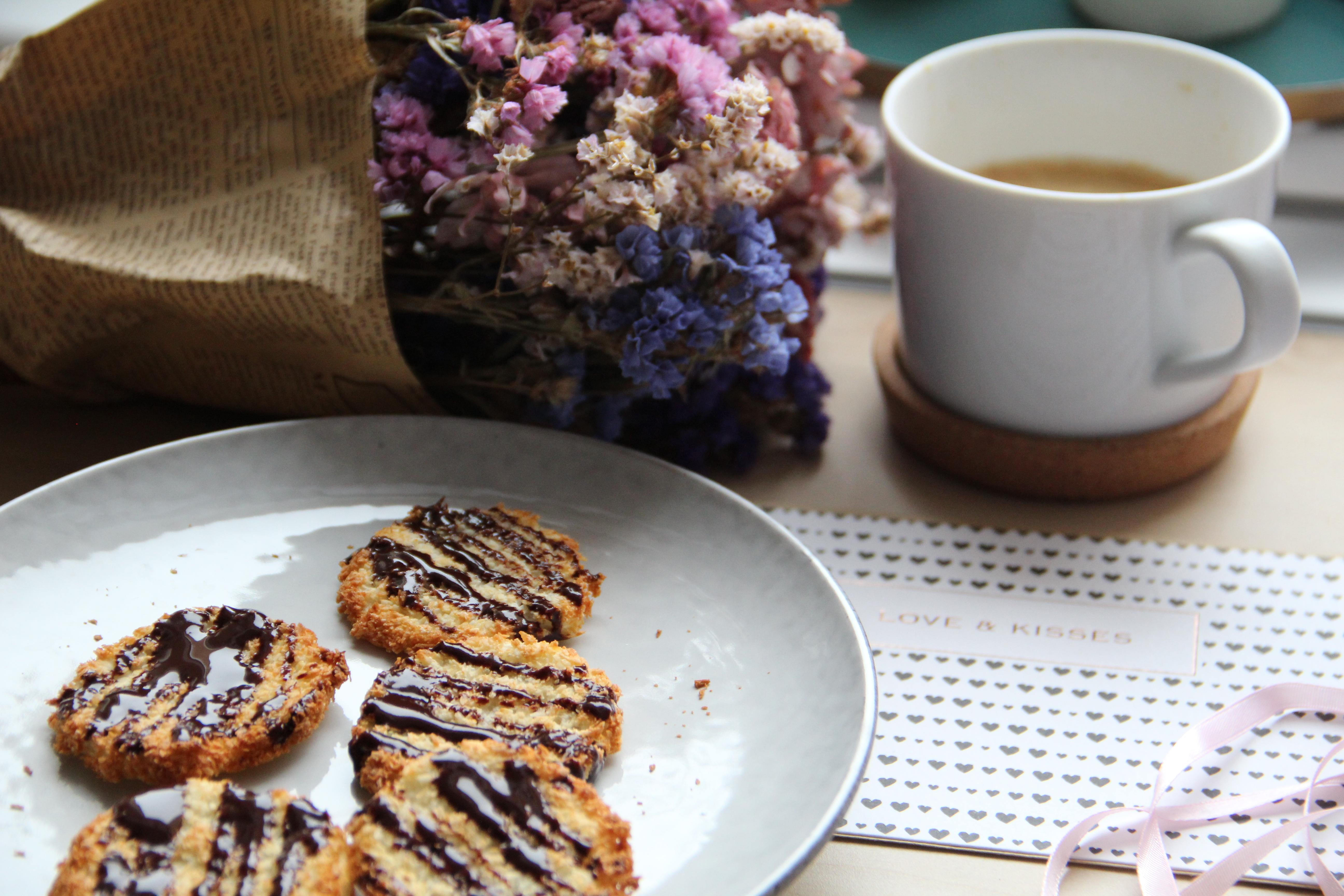 Kokosové sušienky bez cukru len z dvoch ingrediencií