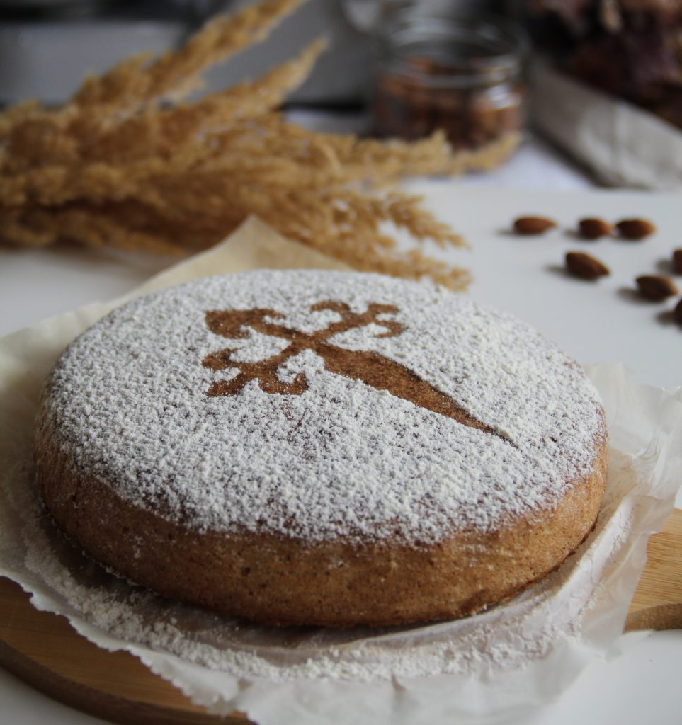 španielsky mandľový koláč