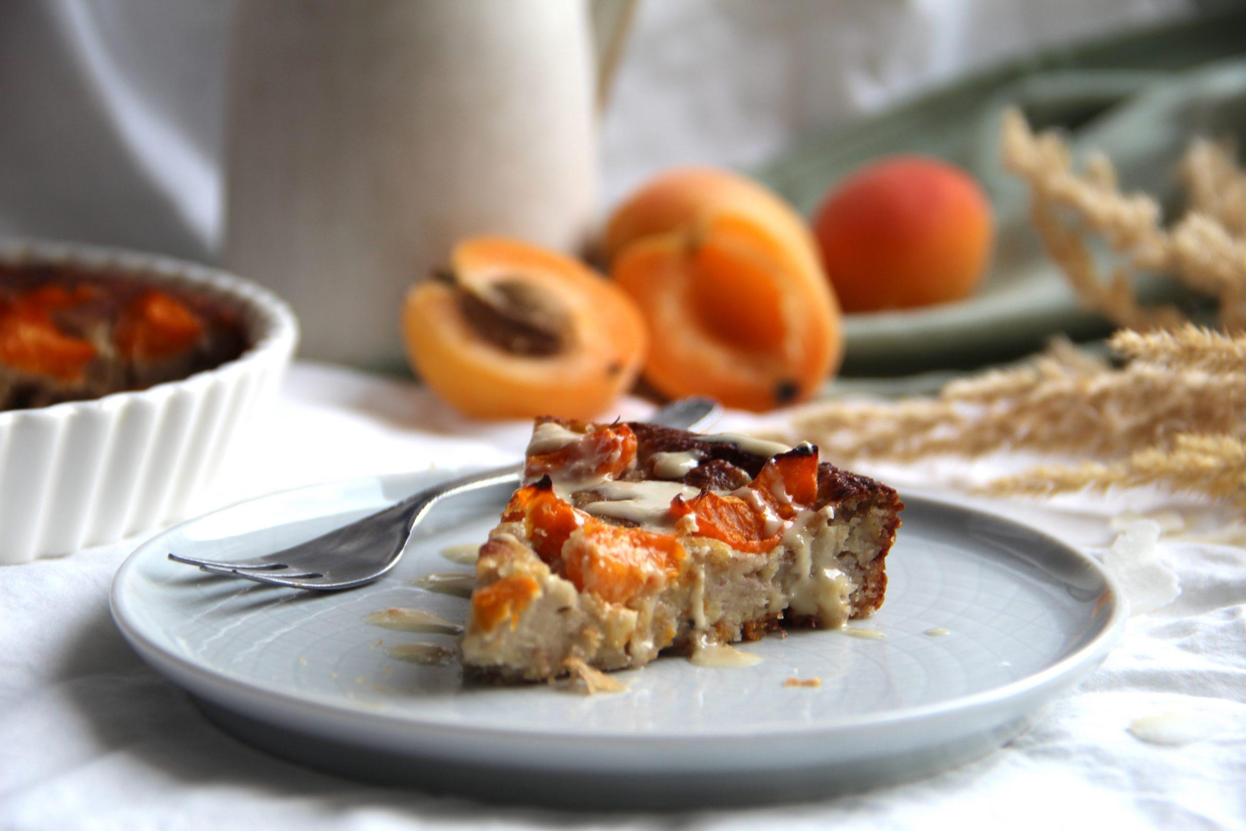 Vegánsky marhuľový koláč bez múky
