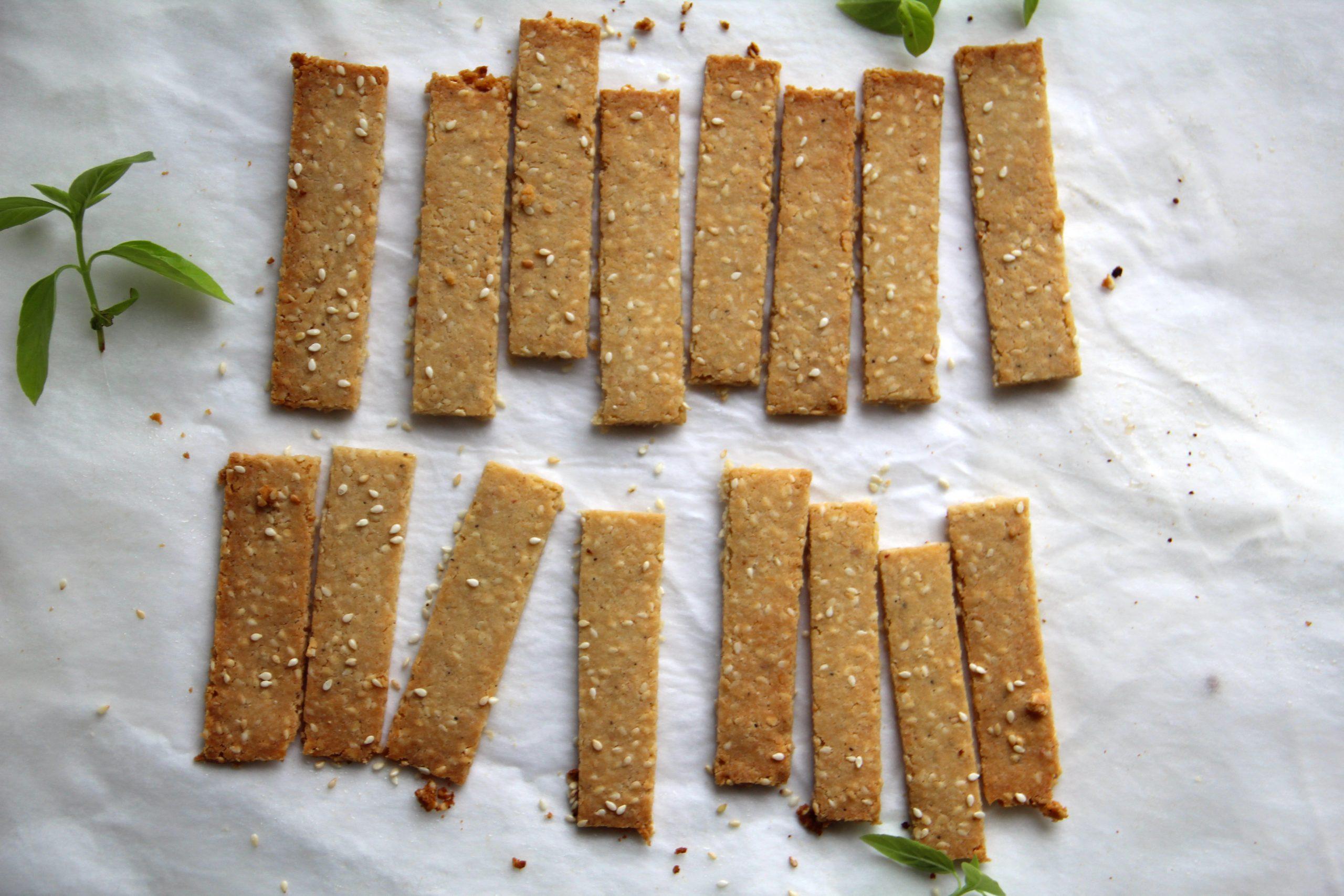 slané sezamové tyčinky