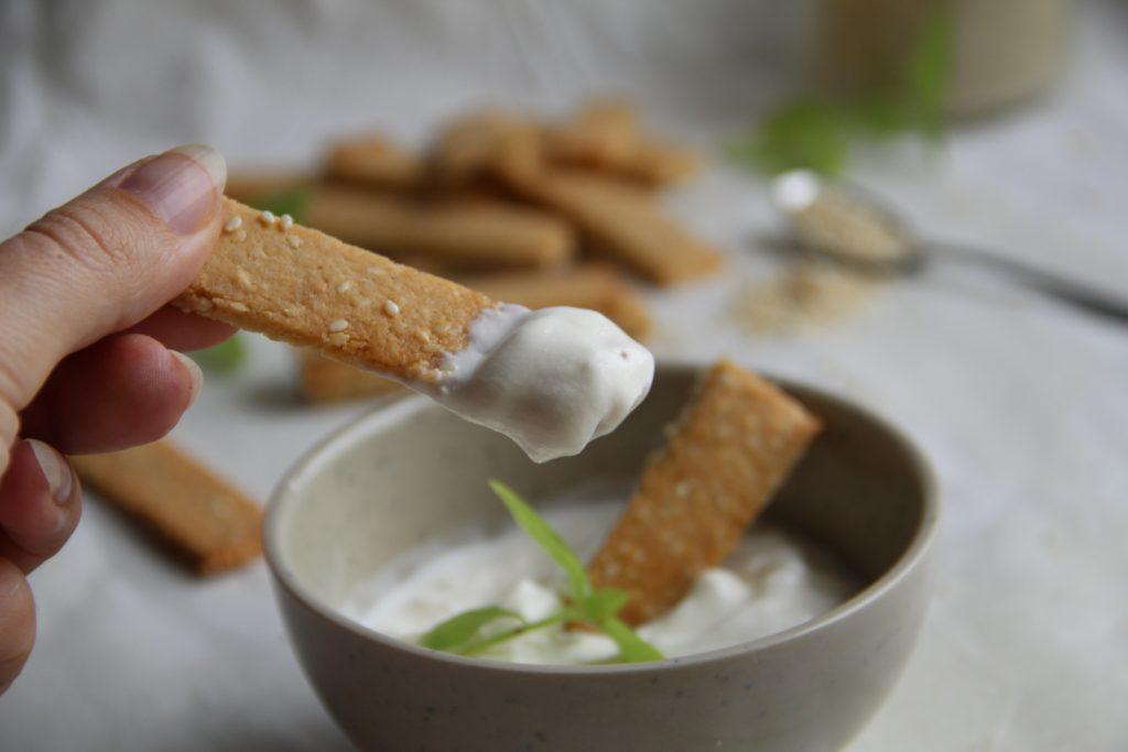 slané sezamové tyčinky bez múky